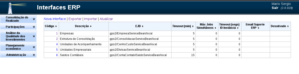 Interfaces ERP